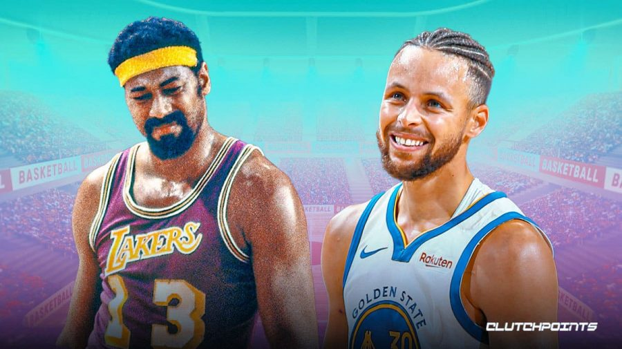 Steph Curry passes Wilt Chamberlain for most points in Golden State Warrior history!